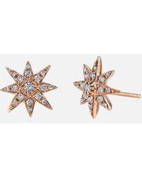 SHAY   Mini Starburst Studs In Rose Gold   Lyst