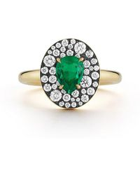 Jemma Wynne Privé Oval Emerald Ring - Green