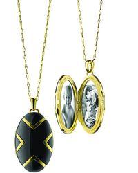 Monica Rich Kosann Chevron Black Ceramic Locket