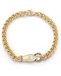 Jemma Wynne Toujours Curb Link Snake Bracelet - Metallic