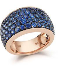 WALTERS FAITH Sapphire Pavé Wide Ring - Blue
