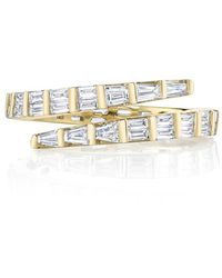 Anita Ko - Two-row Baguette Coil Ring - Lyst