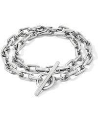 WALTERS FAITH Saxon Double Wrap Toggle Bracelet - Metallic