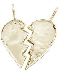Ali Grace Jewelry Gold W/ Diamonds Friendship Heart Charms - Metallic