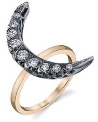 SHAY - 9-diamonds Crescent Moon Ring - Lyst