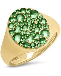 Eriness Emerald Pinky Signet Ring - Green