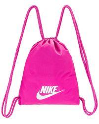 Nike Heritage Gym Sack - 2.0 Backpack Bags - Pink