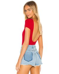 superdown Kara Scoop Back Bodysuit - Red