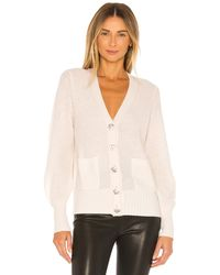 White + Warren - Cashmere Crystal Button Cardigan - Lyst