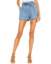 L'Agence Hillary paperbag shorts - Azul
