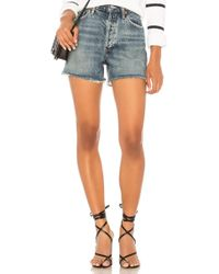 Agolde - Dee High Rise Short In Blue - Lyst