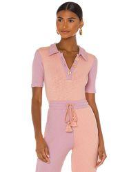 LoveShackFancy Lynx Bodysuit - Pink