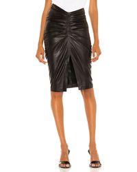 IRO Jinjai Leather Skirt - Black