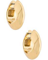 Jenny Bird Серьги-кольца Wide Hinged В Цвете Золотой - Металлик