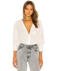 Anine Bing Рубашка На Пуговицах Mika В Цвете Белый