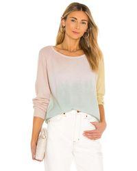 White + Warren Cashmere Tri-dye Sweatshirt - Pink