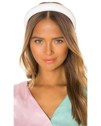 Lele Sadoughi Petite Glossy Padded Headband - White