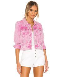 Free People Rumors Denim Jacket - Pink