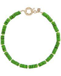 DANNIJO Ожерелье Tulum В Цвете Зеленый