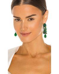 Ranjana Khan Свисающие Серьги Khan Dangle Earrings В Цвете Темно-зеленый