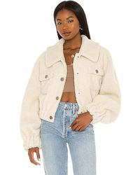 Lovers + Friends Nara Cropped Jacket - White