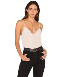 Anine Bing Silk Camisole With Lace Details - Multicolor