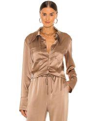 Nanushka Рубашка Tippi В Цвете Песчаник - Коричневый