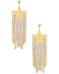 Amber Sceats Star Embellished Earrings - Metallic