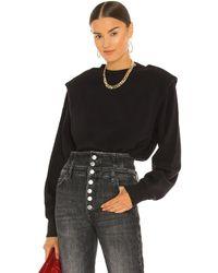 Pistola Kirsten Shoulder Pad Sweatshirt - Black