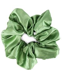 Valet Studio Silk Scrunchie В Цвете Зеленый - Green. Размер All.