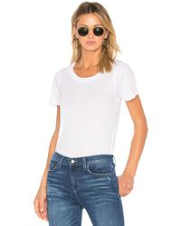Monrow - Jersey Crew Neck Tee In White - Lyst