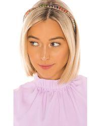 Jennifer Behr Colorblock Crystal Headband - Mettallic