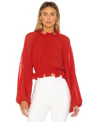 C/meo Collective Longevity Blouse - Red
