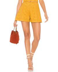 Finders Keepers - Maella Short In Mustard - Lyst