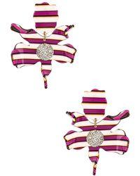 Lele Sadoughi Серьги В Цвете Magenta Stripe - Многоцветный
