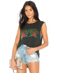Daydreamer - Stop And Smell The Roses Muscle Tee In Black - Lyst