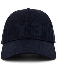 Y-3 Logo キャップ - ブルー
