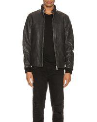 AllSaints Astoria レザージャケット - ブラック