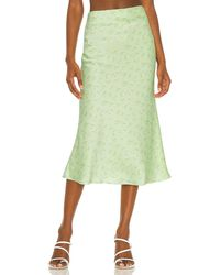 Camila Coelho Gysele Midi Skirt - Green