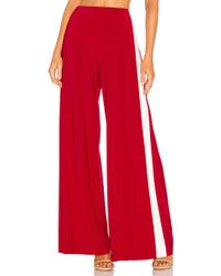 Norma Kamali - X Revolve Side Stripe Elephant Pant In Red - Lyst