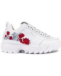Fila Disruptor II Flower Sneaker - Weiß
