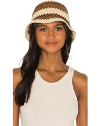 Brixton Essex Raffia Bucket Hat - Braun