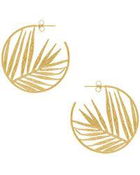 Gorjana - Palm Profile Hoops In Metallic Gold. - Lyst