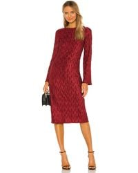 House of Harlow 1960 ROBE MANCHES LONGUES NONA - Rouge