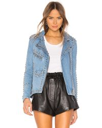 Urban Outfitters Studded Western ライダースジャケット - ブルー
