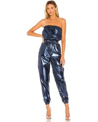 superdown Lani Strapless Jumpsuit - Blau