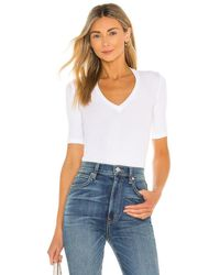 Alix NYC Bedford Thong Bodysuit - Weiß