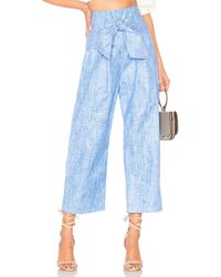 Paper London Pantalón Con Trabilla Gemini - Azul
