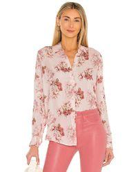 L'Agence Блузка Nina В Цвете Blush Rose Flower - Розовый