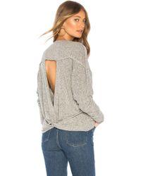 Lamade - Intermingle Twist Back Sweater In Gray - Lyst